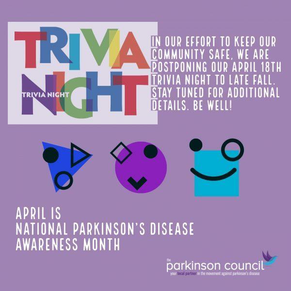 PD Awareness Banner_Trivia Night